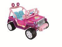 Power Wheels Barbie Jammin' Jeep Wrangler 12 Volt Ride On