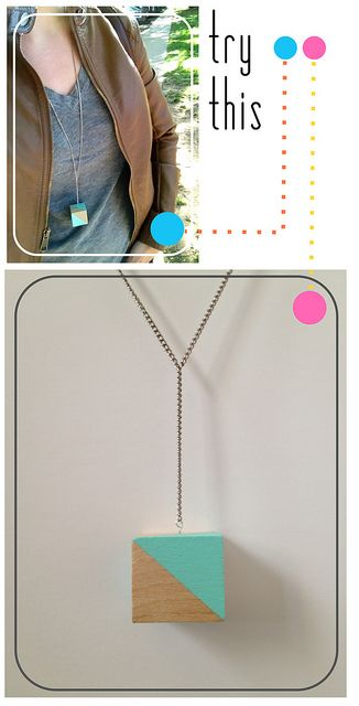 Color Block Necklace Tutorial by Fabric Paper Glue