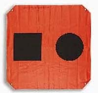 Communication: SOS Flag Day Visual Distress Signal This Day visual distress signal for boats is quite effective in daytime aerial searches. Made from orange plastic with grommets in the corners. FOR EMERGENCY USE ONLY. Complies with U.S. Coast Guard (USCG) requirements in part 160. 072. SOS Day Distress Signal Flag