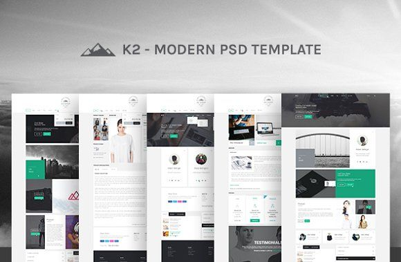 K2 Website Photoshop PSD Template by GoaShape on @creativemarket