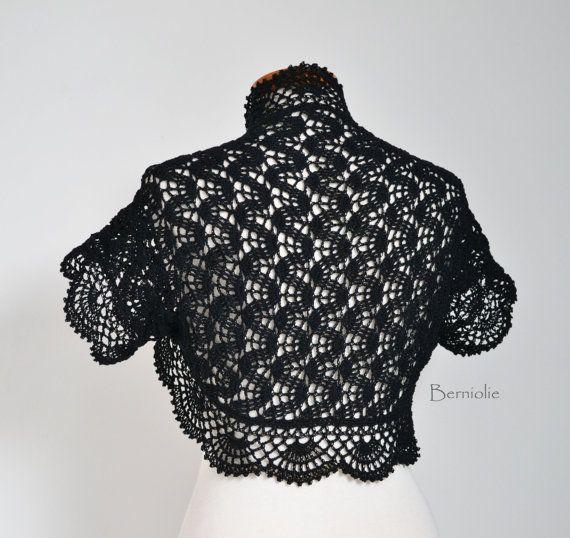 HANAKO Crochet shrug pattern pdf by BernioliesDesigns on Etsy