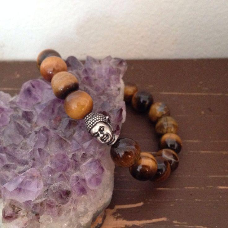 Tiger Eye Buddha Bracelet, $10.00  Healing Stones, Grounding, Solar Plexus, Gemstones