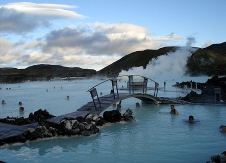 The Blue Lagoon hot springs in Iceland. Bucket list
