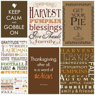 Thanksgiving Subway Art Free Printables