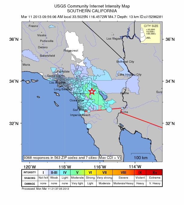 Southern California earthquake largest in greater L.A. since 2010