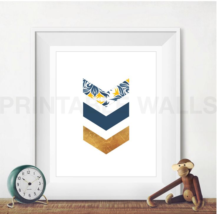Navy Gold Chevron Print, Chevron Wall Art, Gold Art Print, Chevron Nursery Decor, Scandinavian Art, Gold Minimalist Art Chevron Printable by PrintableWalls on Etsy https://www.etsy.com/listing/274771816/navy-gold-chevron-print-chevron-wall-art