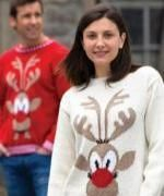 Christmas isn't just for kids - have a go at knitting this exclusive jumper for adults by T B Ramsden. #christmas #jumper #knit