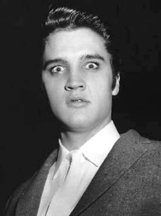 Elvis giving a freaky look to the camera, he was great at facial expressions…