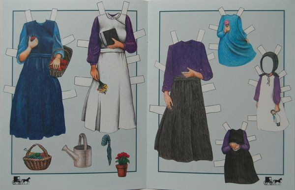 Amish paper doll dresses, from Almost Amish