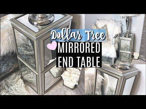 DOLLAR TREE DIY MIRRORED END TABLE | STURDY & EASY | CHIC ON THE CHEAP – YouTube