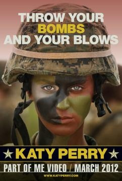 """Katy Perry means business as a solider in the teaser for her """"Part Of Me"""" video"""