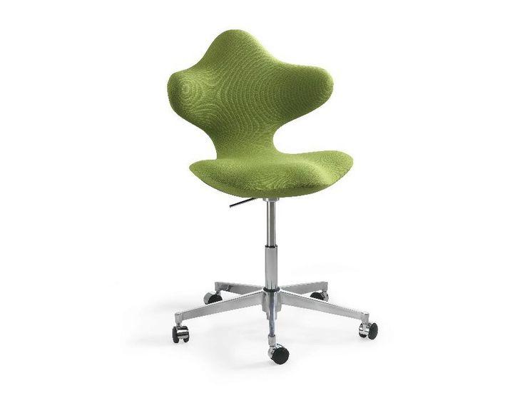Sedia ufficio operativa ad altezza regolabile con ruote ACTIVE™ by Varier…