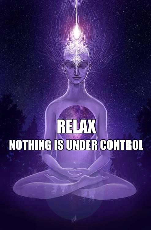 Relax... nothing is under control.