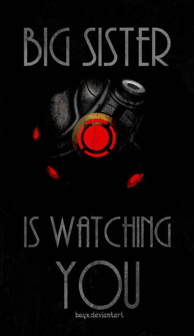 BioShock Big Sister is Watching You // by beyx