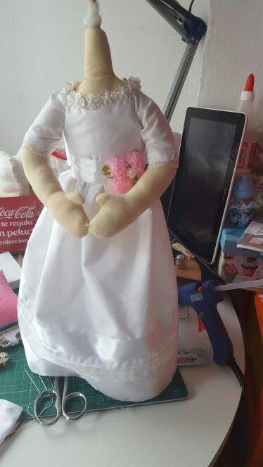 Muñeca soft en proceso de elaboracion