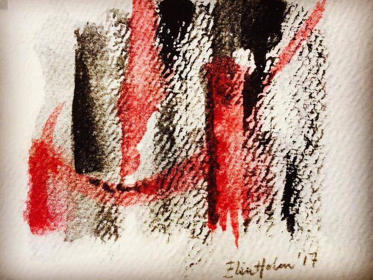 "0 likerklikk, 1 kommentarer – Elin Holm (@elinartholm) på Instagram: ""Contact (ElinArt - July 2017) #watercolors art #artwork #akvarell #nonfigurative #nonfigurativeart…"""