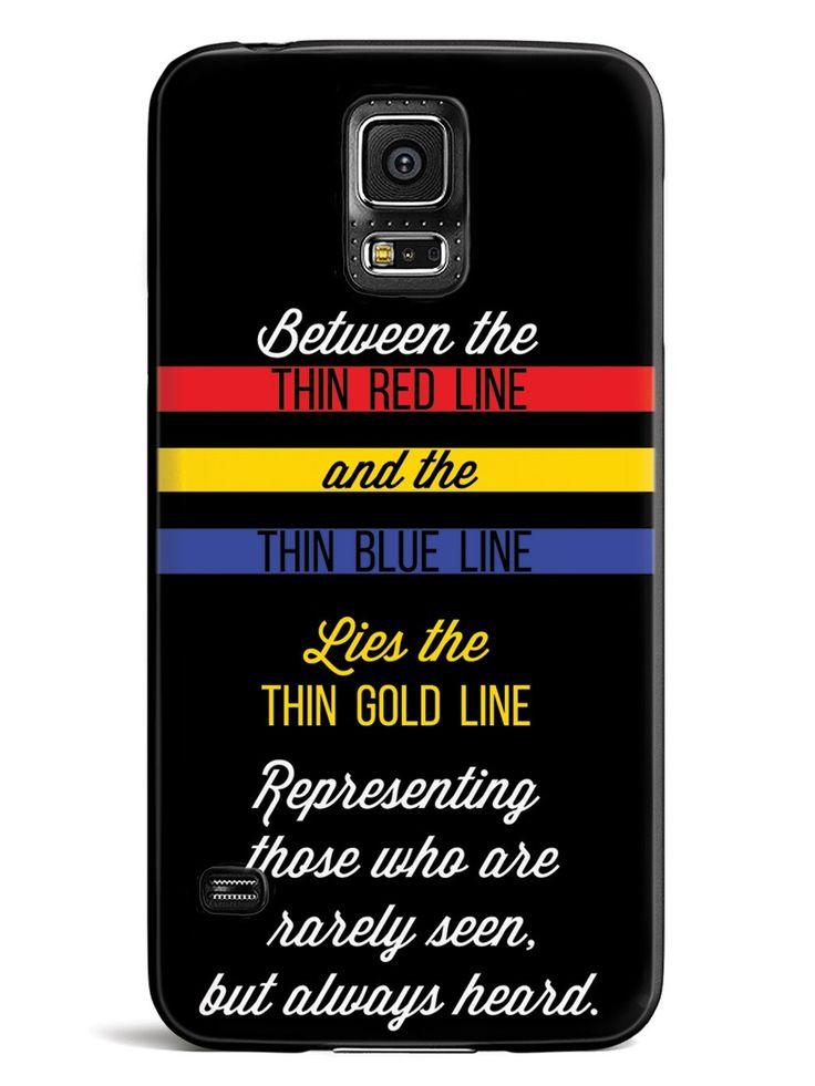 Between Red and Blue Lies Gold - 911 Dispatch Case for Galaxy S5