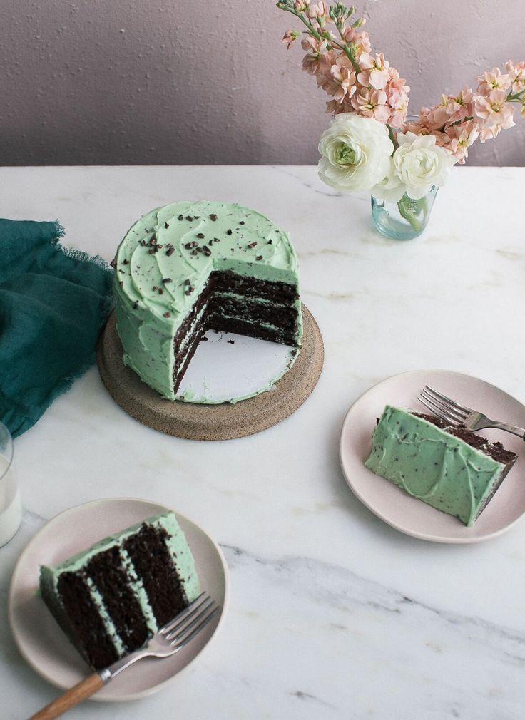 Mint Chocolate Chip Cake – A Cozy Kitchen