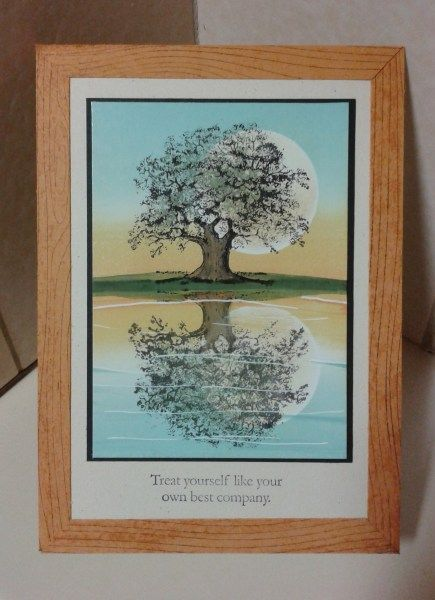 Reflection card, Lovely as a tree, su!