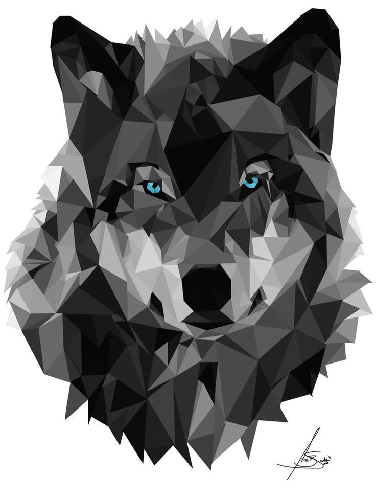 Geometric Wolf by anaba3 on DeviantArt | Dogs | Pinterest ...