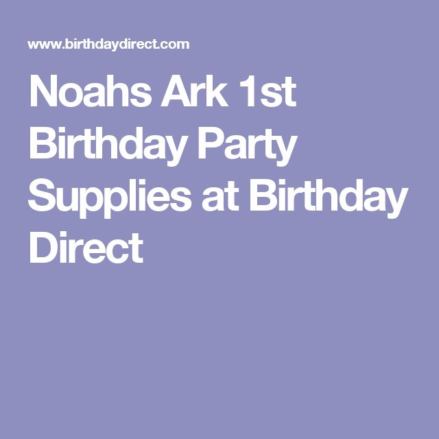 Noahs Ark 1st Birthday Party Supplies at Birthday Direct