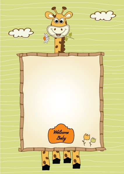 Set of Cute Children frame vector graphic 01