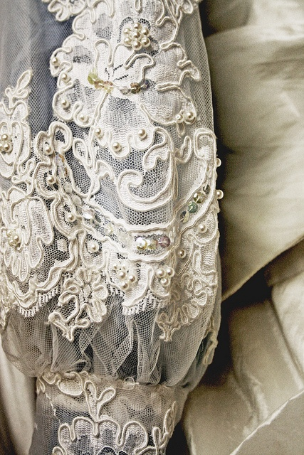 Gorgeous Lace detail on sleeve of antique gown