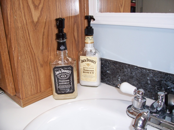 Saw This...I Used Black Label For The Soap And Honey JD For · Cowboy  BathroomMenu0027s ...