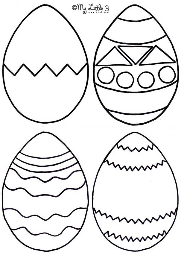 Click The Image To Print Foam Easter Egg Bath Shapes Template
