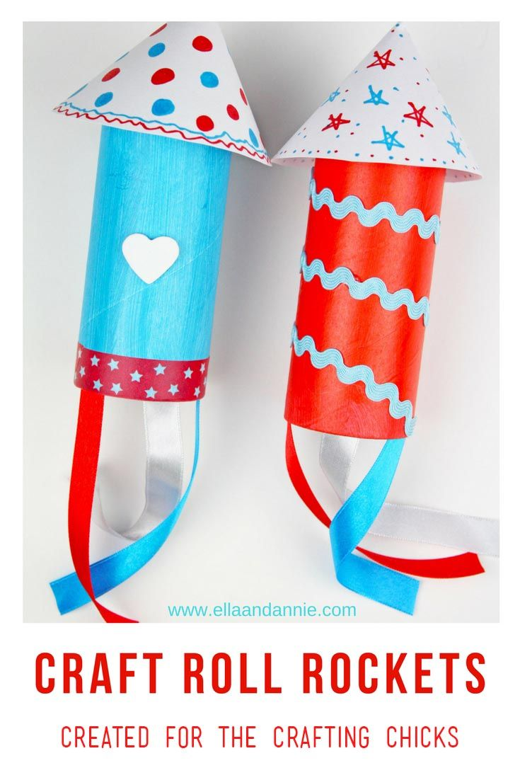 Memorial Day Craft Roll Rockets Kids Crafts And Activities
