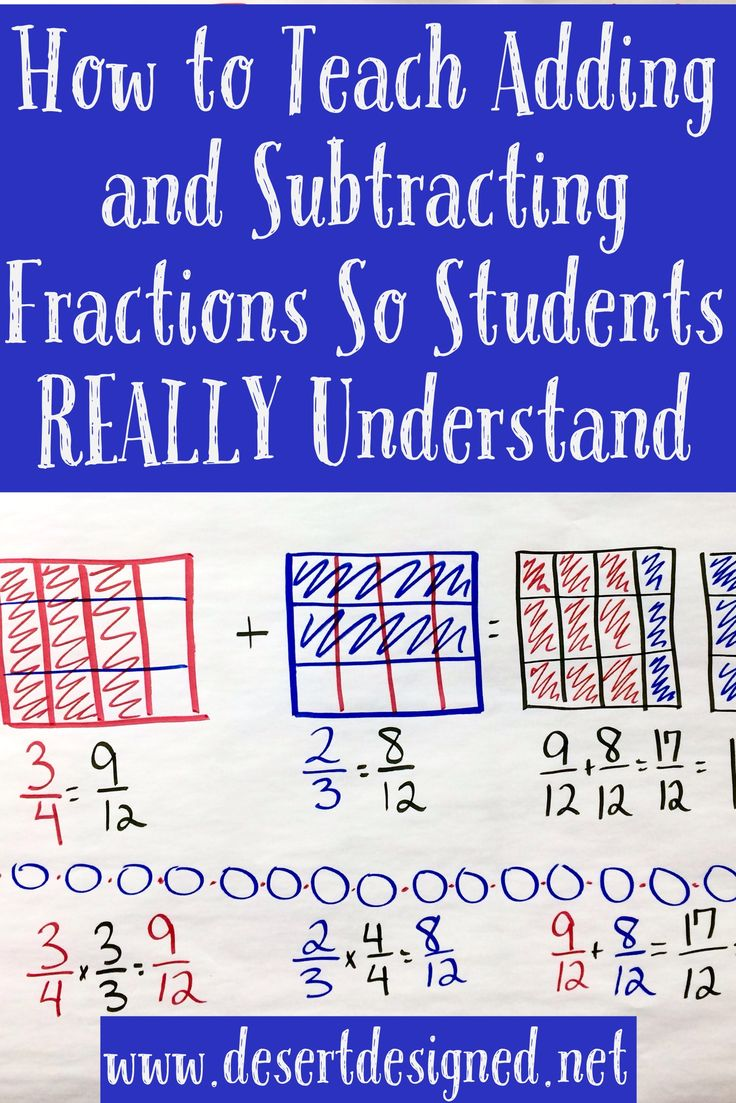 A Great Strategy For Teaching Students To Add And Subtract Fractions In A Way They Will Really Get Teaching Fractions Math Add And Subtract Fractions How to teach adding and subtracting