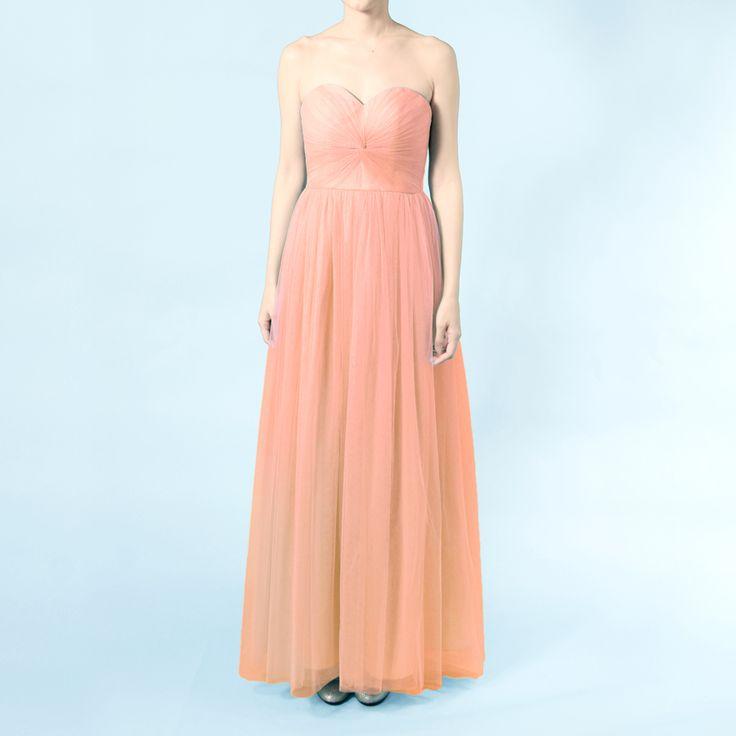 インフィニティロングドレス・ボビネット(ブラッシュピンク)結び方のアレンジ次第ででスタイルを楽しめるインフィニティロングドレス。 #Bridesmaid #Wedding #Dress #Pink #Vintage