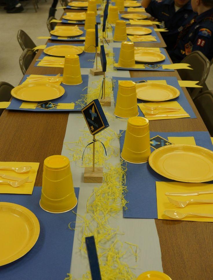 Cub scout blue and gold banquet centerpieces