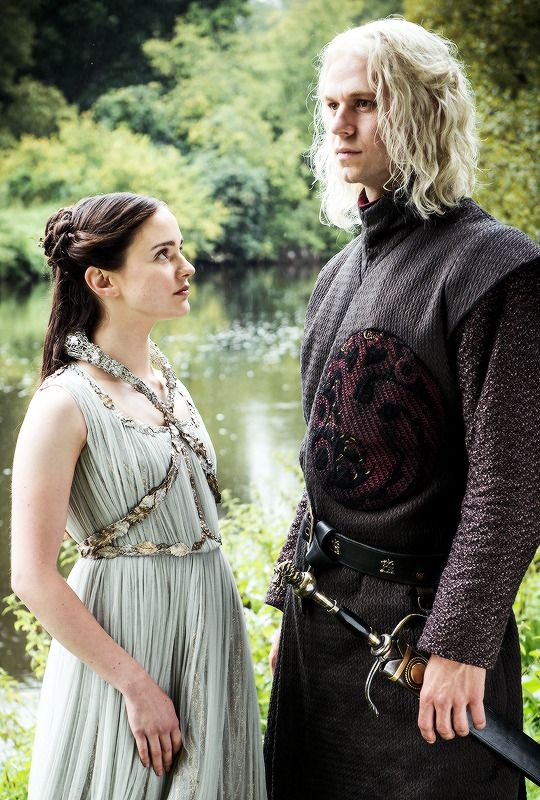 "Rhaegar Targaryen & Lyanna Stark in 7.07 ""The Dragon and the Wolf"" Game of Thrones."