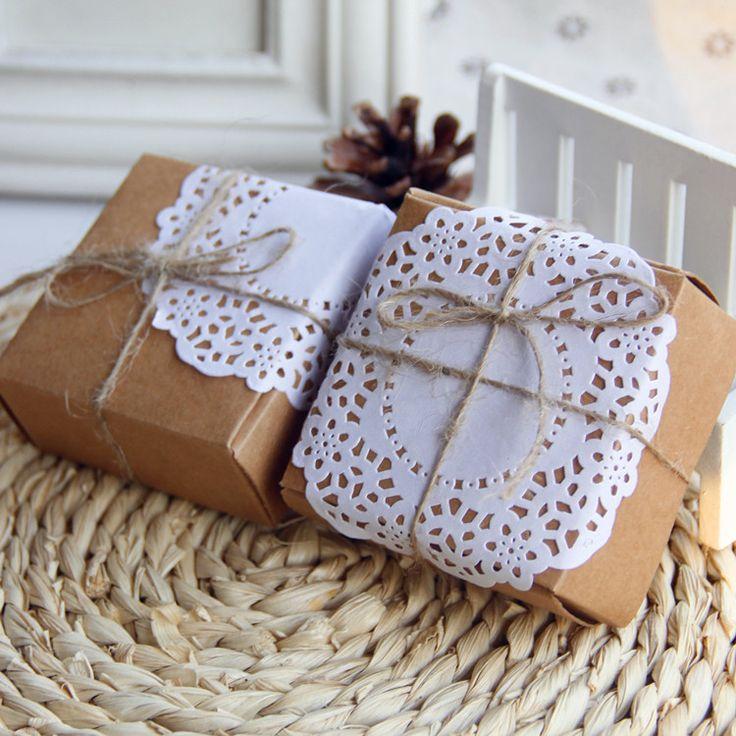 Цзиндэчжэнь керамические украшения коробки крафт-бумага кружева шпагат окно может содержать керамические украшения подарок необходимо