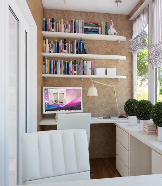 Study place in the balcony.