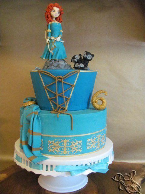 Brave Merida - by TortendesignKS @ CakesDecor.com - cake decorating website