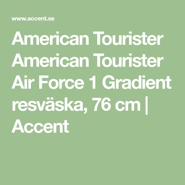 American Tourister American Tourister Air Force 1 Gradient resväska, 76 cm | Accent