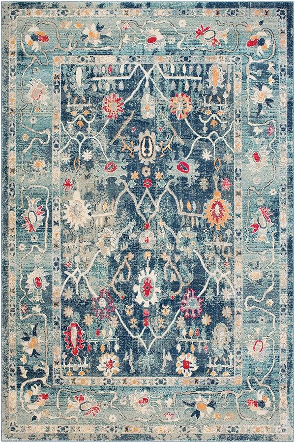 Surya Bohemian Distressed Rug Vintage Area Rug Rugs Direct Oriental Area Rugs Traditional Area Rugs Colorful Rugs