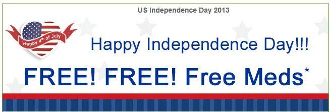 Happy Independence Day offer Free Meds - InternationalDrugMart.com