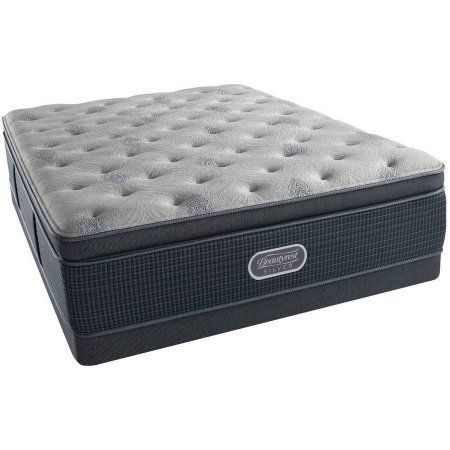 Beautyrest Silver Brewer Luxury Firm Pillow Top Low Profile Mattress Set, Multiple Sizes, White