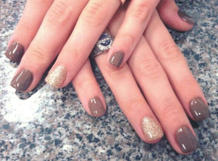 Fall! Brown and glittery gold