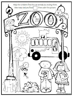 Freebie. Put this on the desk for morning work on a zoo field trip day.