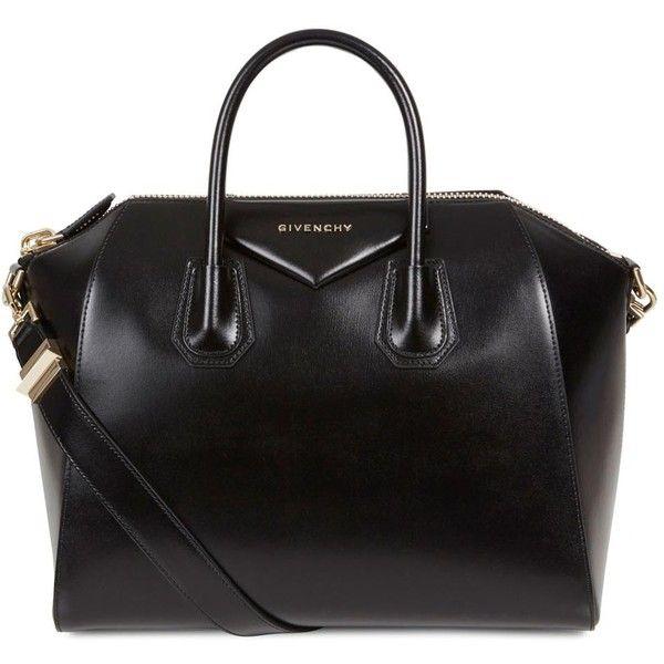 #Givenchy Antigona black medium leather tote found on Polyvore