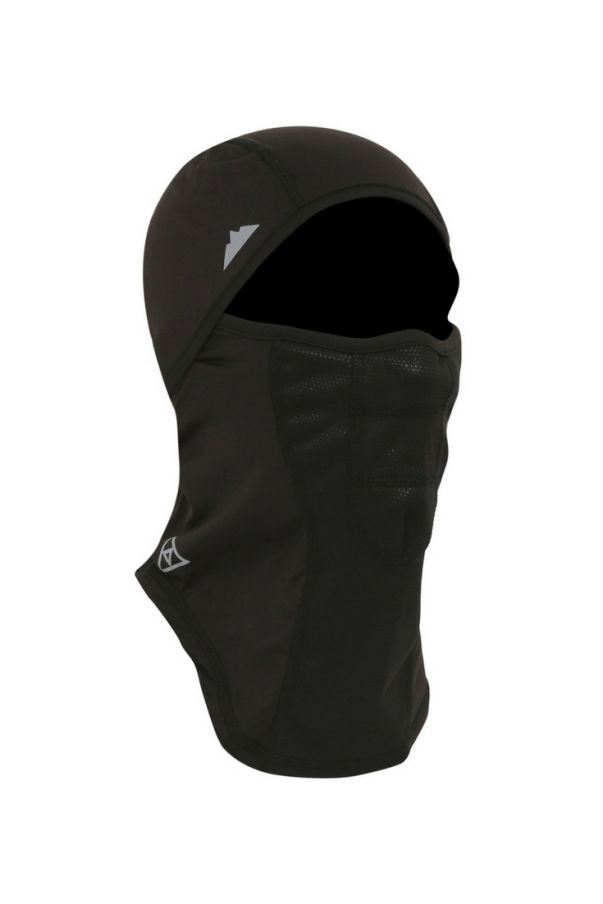 Moisture-wicking thermal balaclava, from Tough Headwear. Winter cycling gear for the head, neck, face