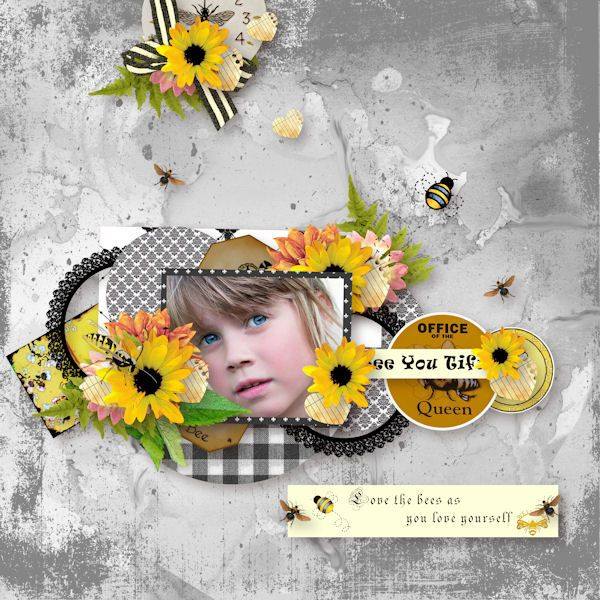 Save the honey bee by Perline Design Photo de Pixabay Template free d'Eudora Chen  https://www.mymemories.com/store/designers/PerlineDesign