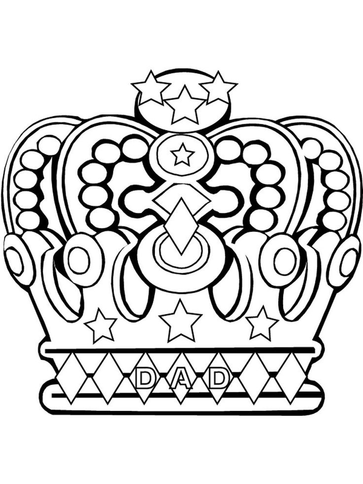 Royal Crown Coloring pages, Crown drawing, Adult