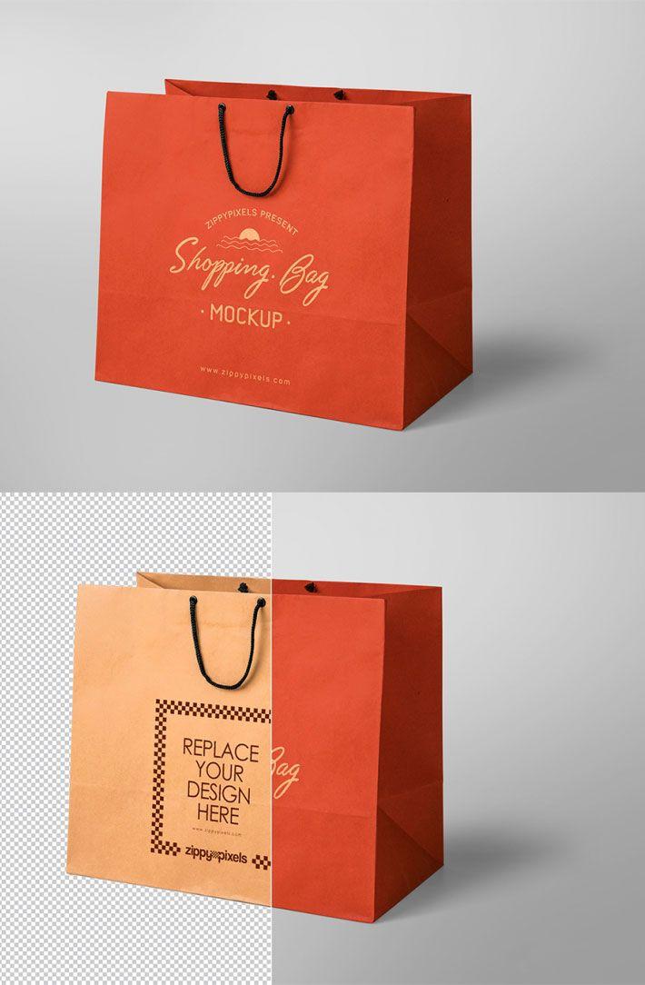 Download Realistic Shopping Bag Mockup Psd