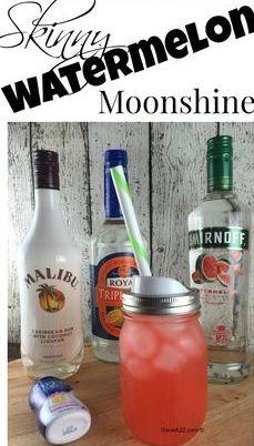 Single Serving Skinny Watermelon Moonshine Recipe