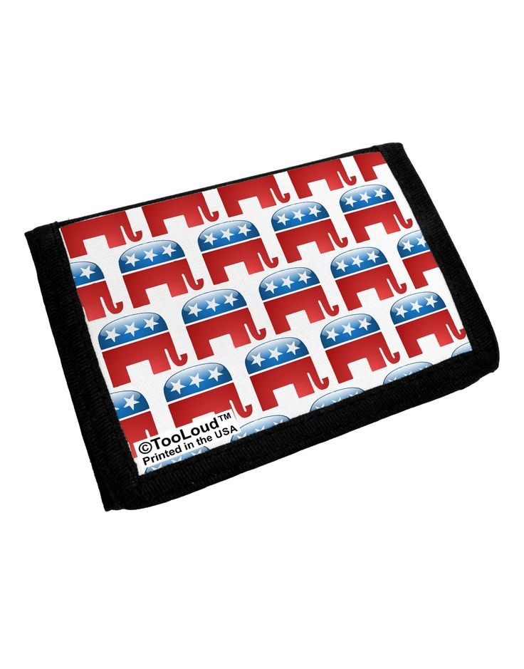 Republican Symbol All Over Trifold Wallet All Over Print
